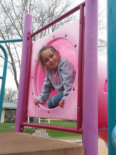 Haskins Park-Child on Slide