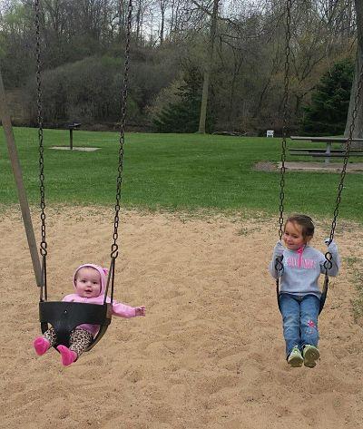Haskins Park - Children on Swing